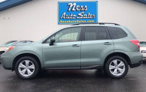 2016 Subaru Forester for sale at NESS AUTO SALES in West Fargo ND