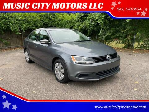 2011 Volkswagen Jetta for sale at MUSIC CITY MOTORS LLC in Nashville TN