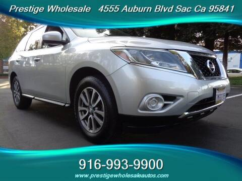 2013 Nissan Pathfinder for sale at Prestige Wholesale in Sacramento CA