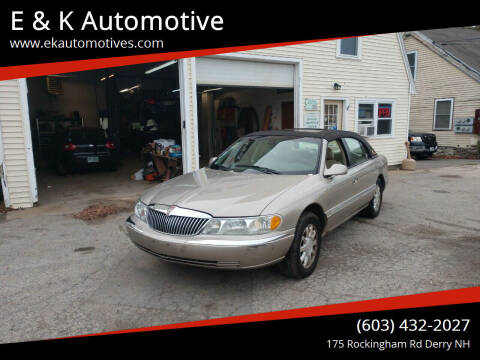 2002 Lincoln Continental for sale at E & K Automotive in Derry NH