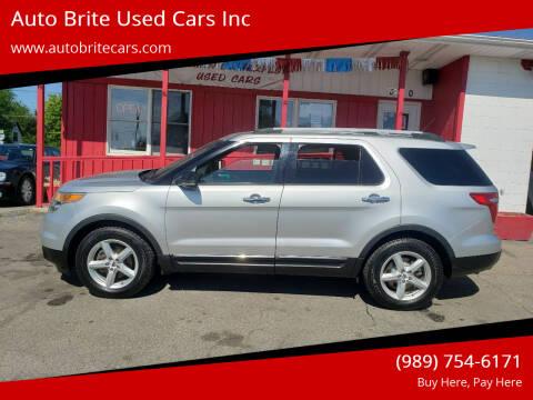 2012 Ford Explorer for sale at Auto Brite Used Cars Inc in Saginaw MI