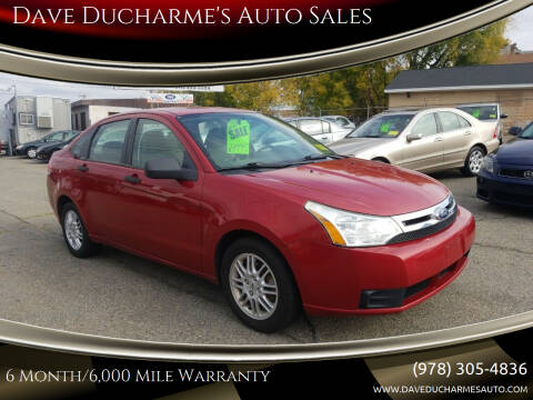 2011 Ford Focus for sale at Dave Ducharme's Auto Sales in Lowell MA