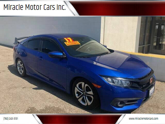 2017 Honda Civic for sale at Miracle Motor Cars Inc. in Victorville CA