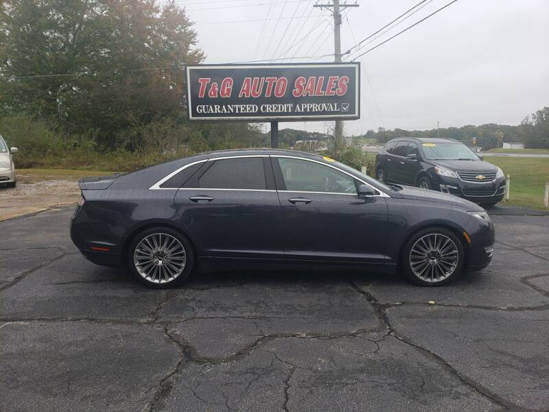 2013 Lincoln MKZ for sale at T & G Auto Sales in Florence AL