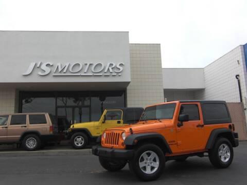 2012 Jeep Wrangler for sale at J'S MOTORS in San Diego CA