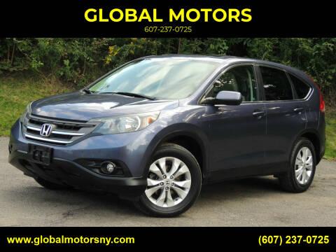 2012 Honda CR-V for sale at GLOBAL MOTORS in Binghamton NY