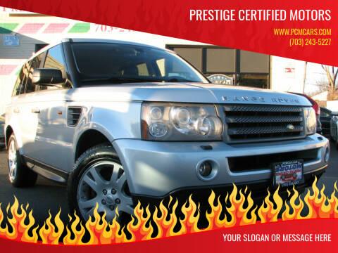 2006 Land Rover Range Rover Sport for sale at Prestige Certified Motors in Falls Church VA
