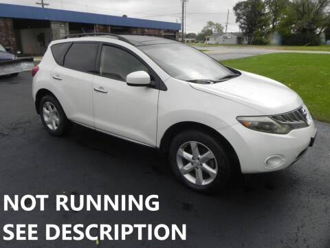 2009 Nissan Murano for sale at 121 Motorsports in Mount Zion IL