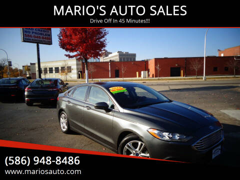 2018 Ford Fusion for sale at MARIO'S AUTO SALES in Mount Clemens MI