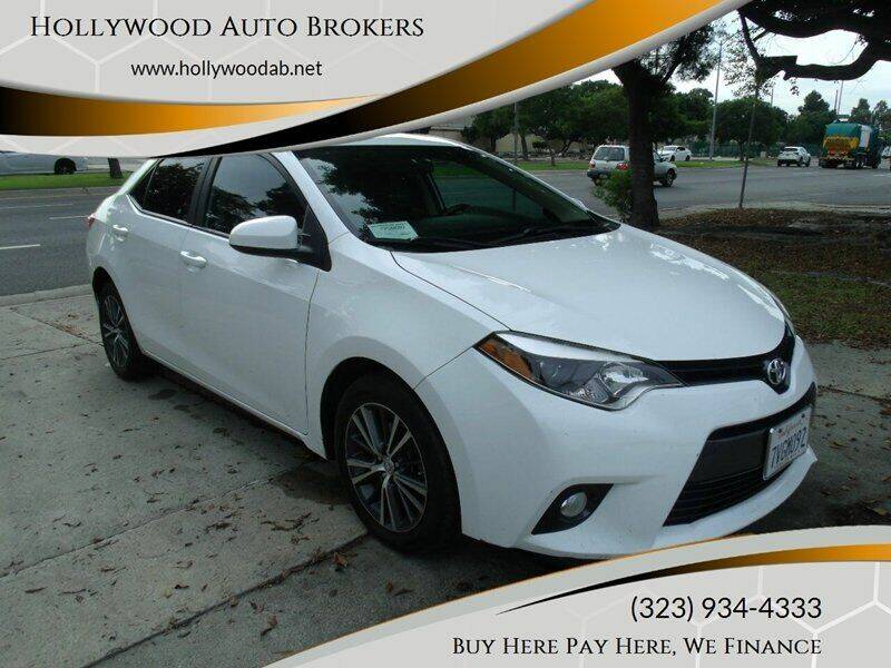 2016 Toyota Corolla for sale at Hollywood Auto Brokers in Los Angeles CA