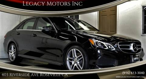 2016 Mercedes-Benz E-Class for sale at Legacy Motors Inc in Roseville CA
