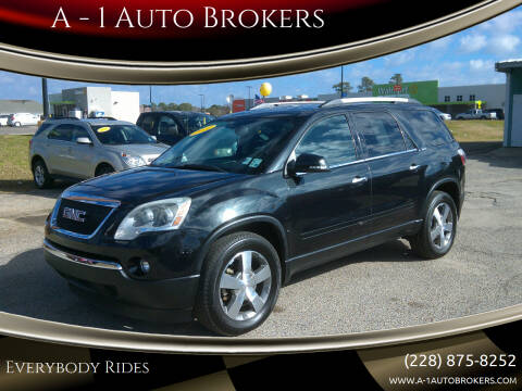 2011 GMC Acadia for sale at A - 1 Auto Brokers in Ocean Springs MS