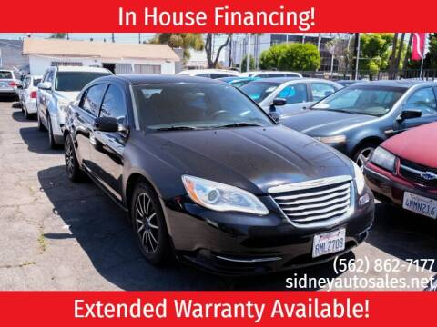 2013 Chrysler 200 for sale at Sidney Auto Sales in Downey CA