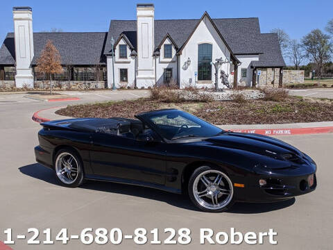 2002 Pontiac Firebird for sale at Mr. Old Car in Dallas TX