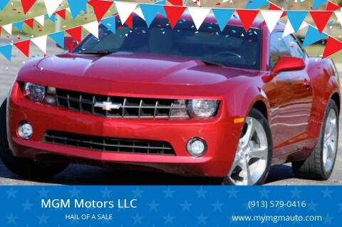 2013 Chevrolet Camaro for sale at MGM Motors LLC - Hail Sale in De Soto KS
