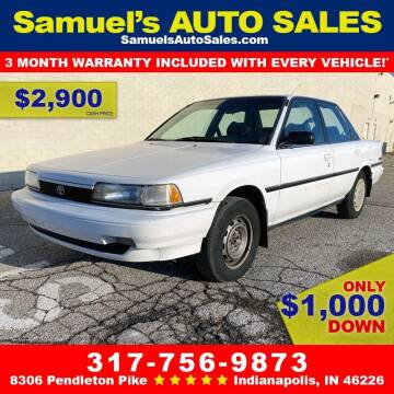 1991 Toyota Camry for sale at Samuel's Auto Sales in Indianapolis IN