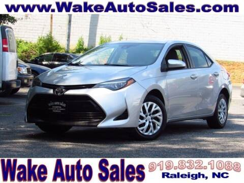 2017 Toyota Corolla for sale at Wake Auto Sales Inc in Raleigh NC