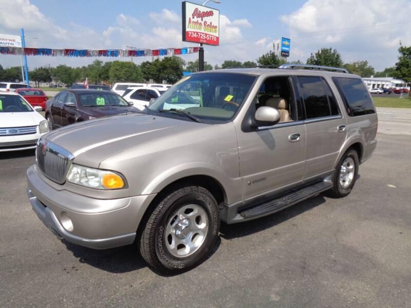 2000 Lincoln Navigator for sale at Aspen Auto Sales in Wayne MI