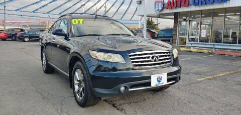2007 Infiniti FX35 for sale at I-80 Auto Sales in Hazel Crest IL