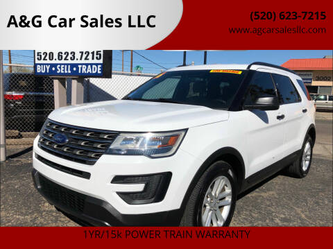 2016 Ford Explorer for sale at A&G Car Sales  LLC in Tucson AZ