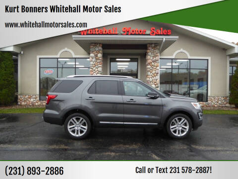 2016 Ford Explorer for sale at Kurt Bonners Whitehall Motor Sales in Whitehall MI