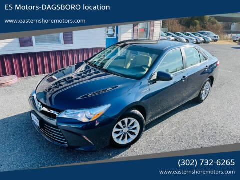 2015 Toyota Camry Hybrid for sale at ES Motors-DAGSBORO location in Dagsboro DE