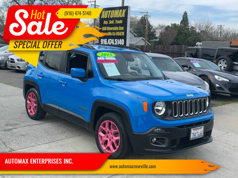 2015 Jeep Renegade for sale at AUTOMAX ENTERPRISES INC. in Roseville CA