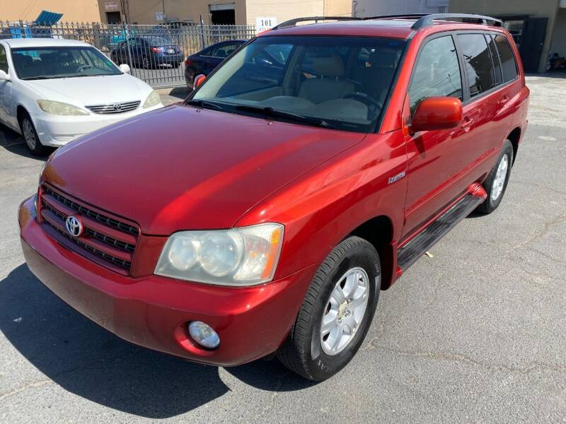 2003 Toyota Highlander for sale at 101 Auto Sales in Sacramento CA
