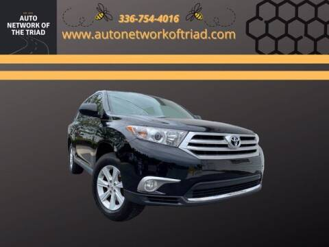 2013 Toyota Highlander for sale at Auto Network of the Triad in Walkertown NC