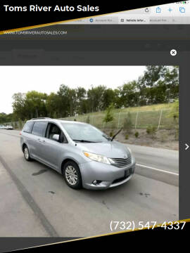 2012 Toyota Sienna for sale at Toms River Auto Sales in Toms River NJ
