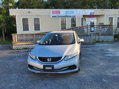 2015 Honda Civic for sale at Seven and Below Auto Sales, LLC in Rockville MD