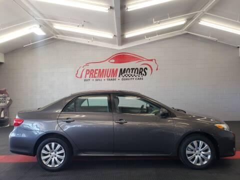 2013 Toyota Corolla for sale at Premium Motors in Villa Park IL