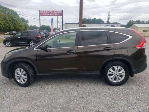 2013 Honda CR-V for sale at 220 Auto Sales in Rocky Mount VA