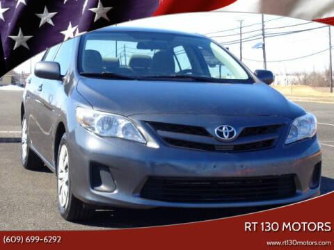 2012 Toyota Corolla for sale at RT 130 Motors in Burlington NJ