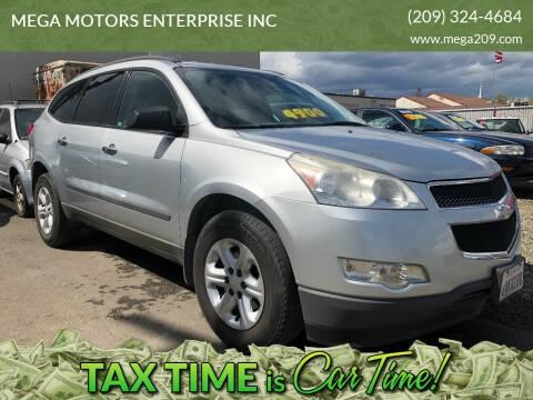 2012 Chevrolet Traverse for sale at MEGA MOTORS ENTERPRISE INC in Modesto CA