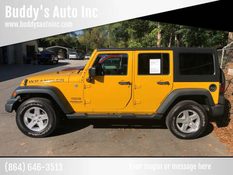 2015 Jeep Wrangler Unlimited for sale at Buddy's Auto Inc in Pendleton SC