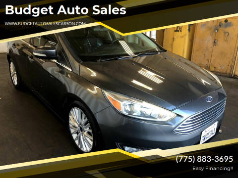 2016 Ford Focus for sale at Budget Auto Sales in Carson City NV