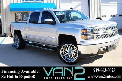 2015 Chevrolet Silverado 1500 for sale at Van 2 Auto Sales Inc in Siler City NC