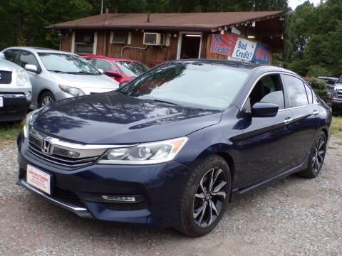 2017 Honda Accord for sale at Select Cars Of Thornburg in Fredericksburg VA