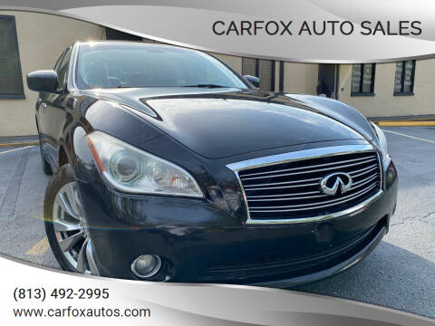 2013 Infiniti M37 for sale at Carfox Auto Sales in Tampa FL