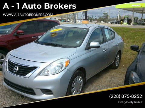 2012 Nissan Versa for sale at A - 1 Auto Brokers in Ocean Springs MS