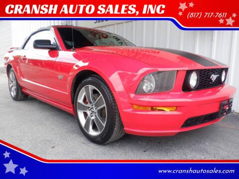 2008 Ford Mustang for sale at CRANSH AUTO SALES, INC in Arlington TX