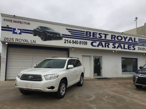 2010 Toyota Highlander for sale at Best Royal Car Sales in Dallas TX