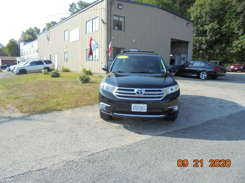 2012 Toyota Highlander for sale at Exclusive Auto Sales & Service in Windham NH