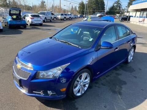 2013 Chevrolet Cruze for sale at TacomaAutoLoans.com in Lakewood WA