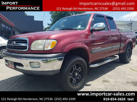 2002 Toyota Tundra for sale at Import Performance Sales - Henderson in Henderson NC