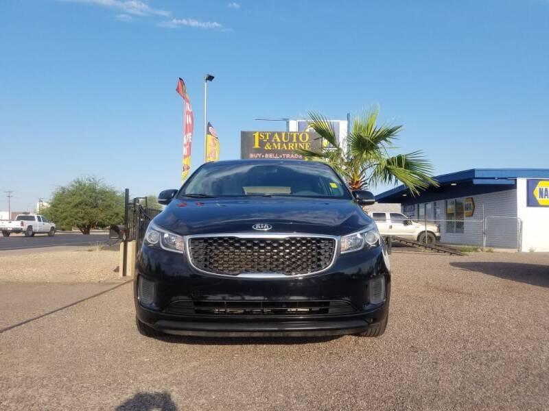 2016 Kia Sedona for sale at 1ST AUTO & MARINE in Apache Junction AZ