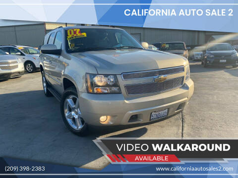 2007 Chevrolet Tahoe for sale at CALIFORNIA AUTO SALE 2 in Livingston CA