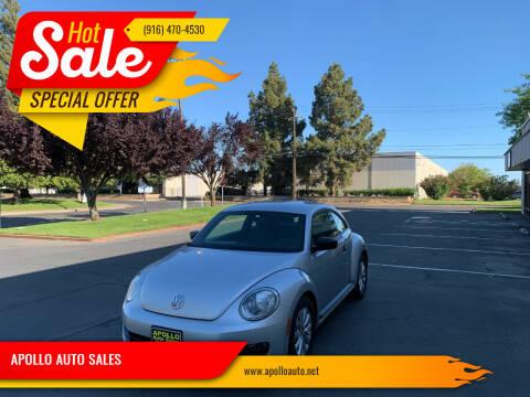 2013 Volkswagen Beetle for sale at APOLLO AUTO SALES in Sacramento CA