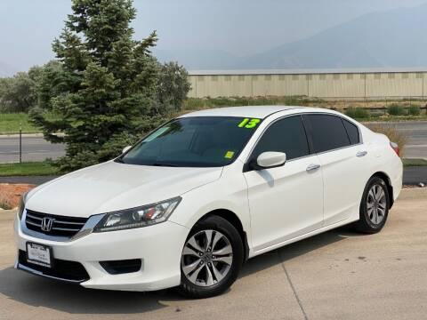 2013 Honda Accord for sale at Evolution Auto Sales LLC in Springville UT